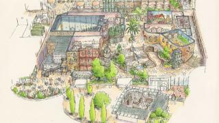 ジブリパークの完成予想図